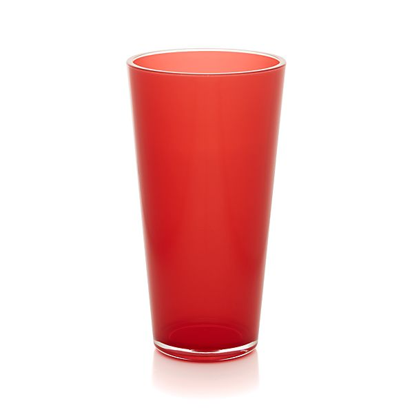 Pop Red Acrylic 24 oz. Drink Glass