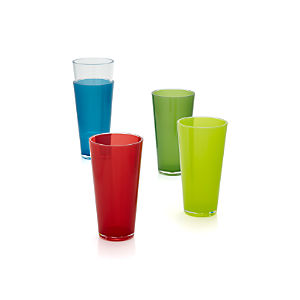 Pop Acrylic 24 oz. Drink Glasses