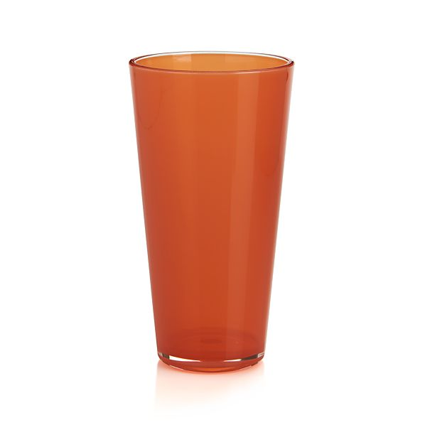 Pop Orange Acrylic 24 oz. Drink Glass