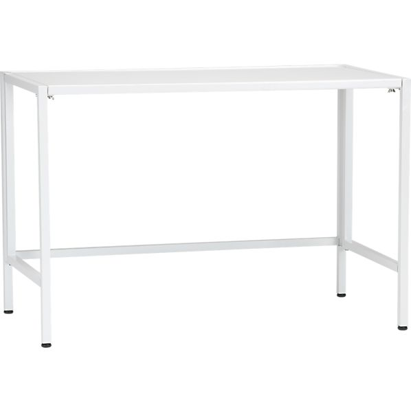 "Folding 44"" White Utility Table"