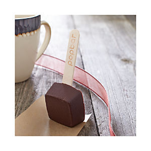 Hot Dark Chocolate on a Stick