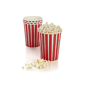 Popcorn Cups Set of Four