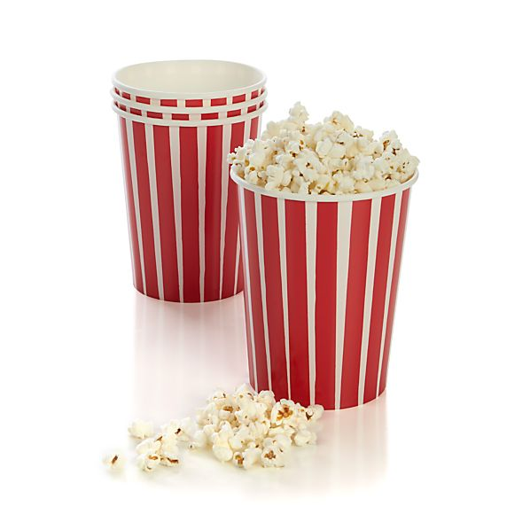 Set of 4 Popcorn Cups