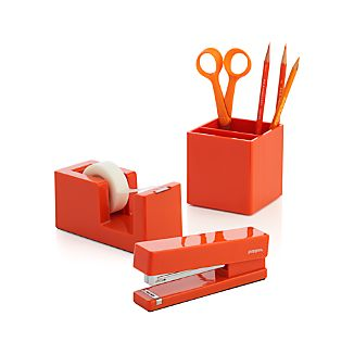 Poppin® Orange Office Accessories