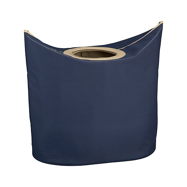 Portable Indigo Laundry Hamper