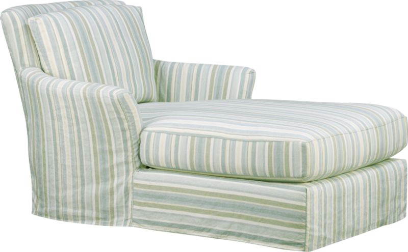 "Modern meets grace in this versatile new classic for living or family room. Slipcover fabric for Portico Chaise is a basketweave pattern quilted on an easy-care cotton-polyester blend. Fabric is tumble-washed repeatedly to achieve a soft, lived-in feel.<br /><br />Additional <a href=""http://crateandbarrel.custhelp.com/cgi-bin/crateandbarrel.cfg/php/enduser/crate_answer.php?popup=-1&p_faqid=125&p_sid=DMUxFvPi"">slipcovers</a> available through stores featuring our Furniture Collection.<br /><br />After you place your order, we will send a fabric swatch via next day air for your final approval. We will contact you to verify both your receipt and approval of the fabric swatch before finalizing your order.<br /><br /><NEWTAG/>&"