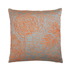 Posy Orange 18 Pillow