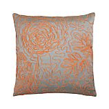 Posy Orange 18&quot; Pillow
