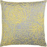 "Posy Yellow 18"" Pillow"
