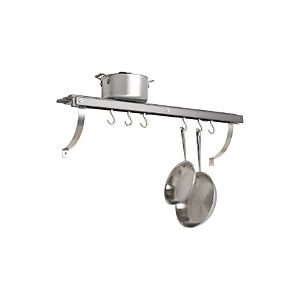 J.K. Adams Grey Wall Mounted Pot Rack