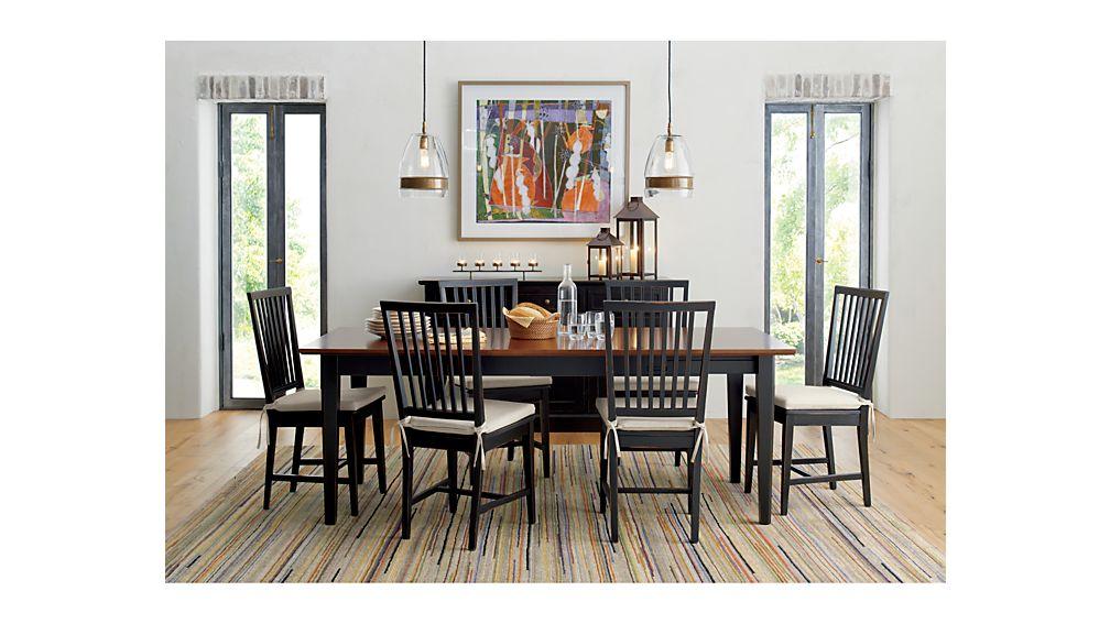 Village Black Wood Dining Chair