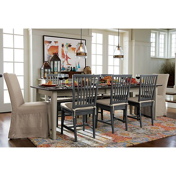 Pranzo II Vamelie Extension Dining Table Crate And Barrel
