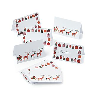 Presents and Reindeer Placecards Set of 12