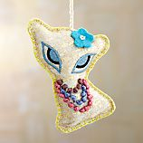Pretty Gold Cat Ornament