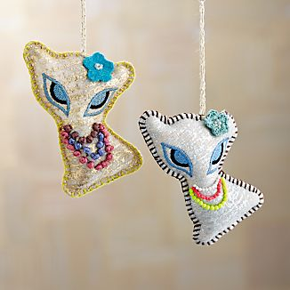 Pretty Cat Ornaments