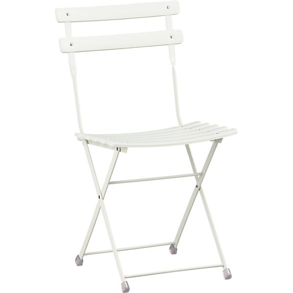 Pronto White Folding Bistro Chair