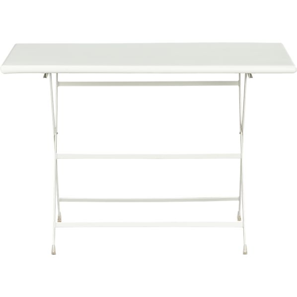 Pronto Large White Folding Bistro Table