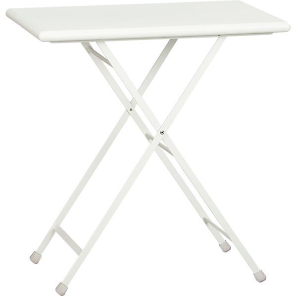Pronto Small White Folding Bistro Table