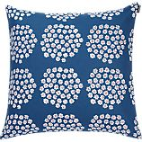 "Marimekko Puketti Blue and White 20"" Pillow"