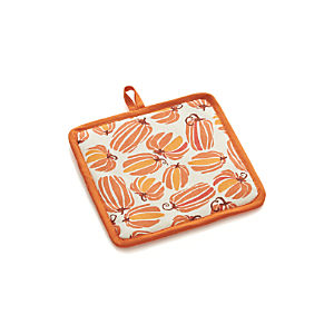 Autumn Pumpkins Potholder