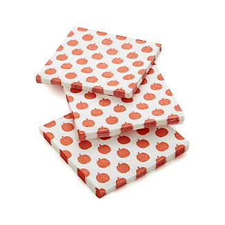 Set of 20 Pumpkins Beverage Napkins