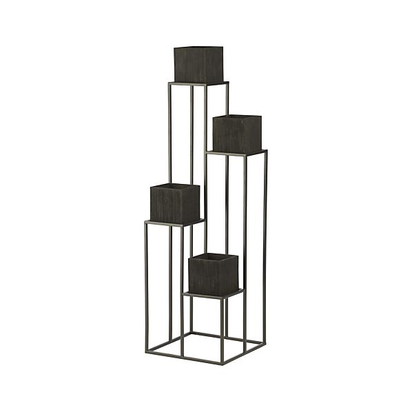 Quadrant Plant Stand with Four Planters