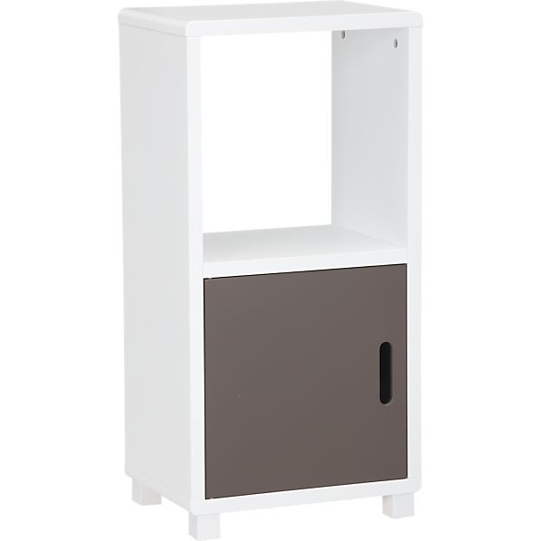 Qube 2-Section Grey Storage Unit