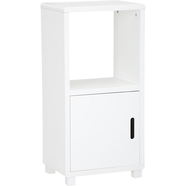 Qube 2-Section White Storage Unit