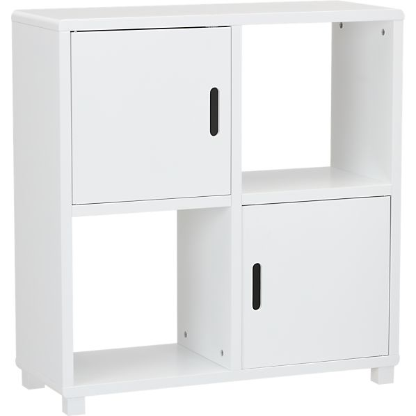 Qube 4-Section White Storage Unit