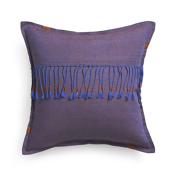 "Quent 18"" Pillow with Feather-Down Insert"