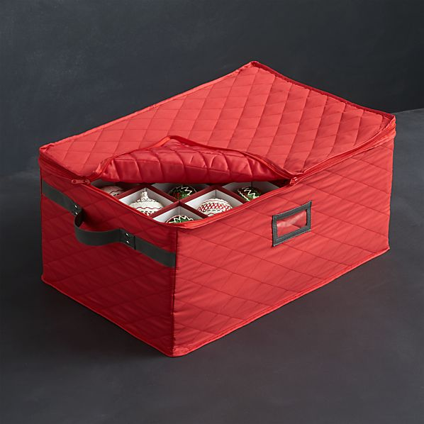 Quilted Red Ornament Bin