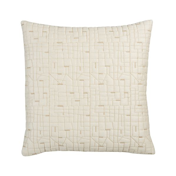 "Quilted Silk 18"" Pillow"