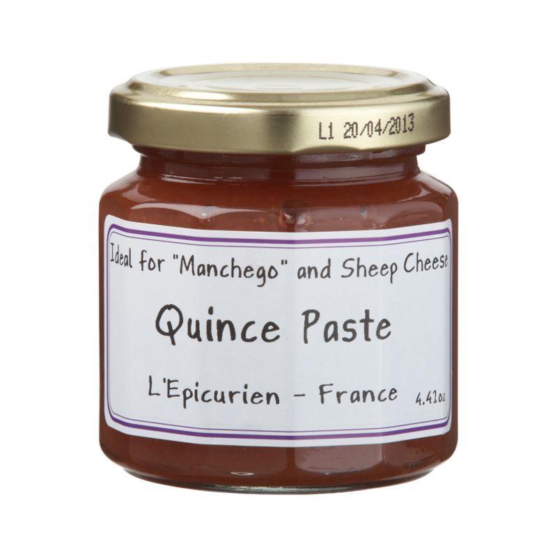 Only carefully selected fruits go into L'Epicurien's old-fashioned copper kettles to make this gourmet preserve from the South of France.<br /><br /><NEWTAG/><ul><li>Quince paste contains quince, cane sugar, concentrated lemon juice and fruit pectin</li><li>Produced in a facility that processes nuts</li><li>Gluten-free</li><li>Made in France</li></ul>