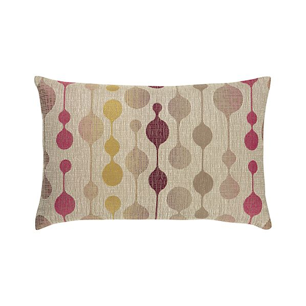 "Quincy 20""x13"" Berry Pillow"