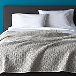 Raj Reversible Grey Full-Queen Quilt