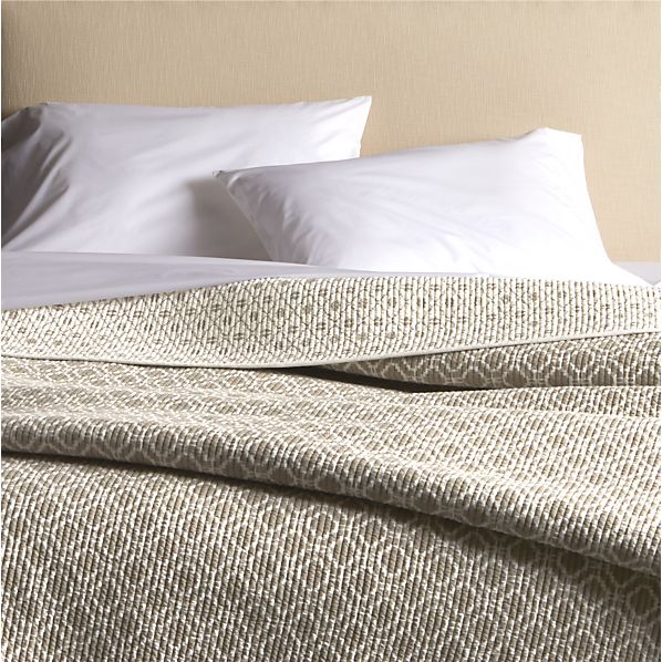 Raj Reversible Khaki Full-Queen Quilt