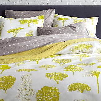 Marimekko Rantapuisto Citron Duvet Covers and Pillow Shams