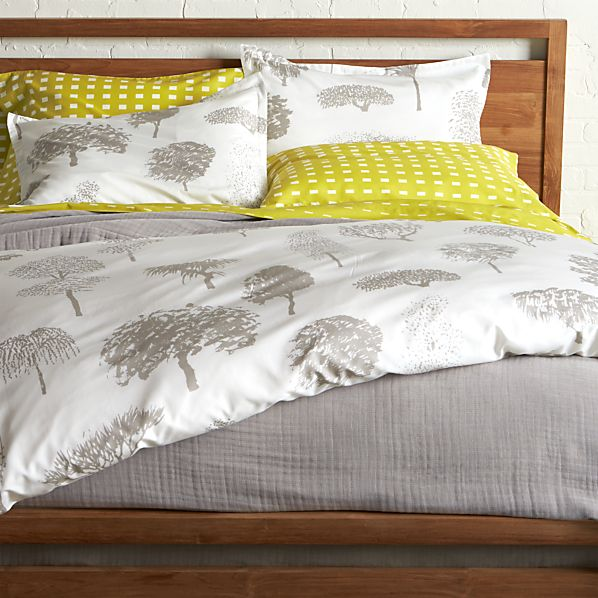 Marimekko Rantapuisto Grey Duvet Covers and Pillow Shams