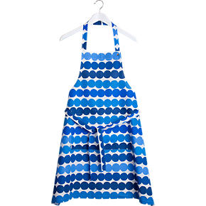 Marimekko Rasymatto Blue and White Apron