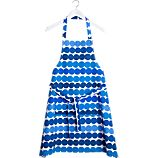 Marimekko Räsymatto Blue and White Apron
