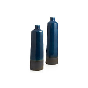 Reactive Blue Bottle Vases