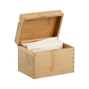 Recipe Box with Divider Cards