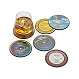 Set of 6 Record Coasters