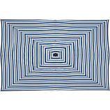 Rectangular Blue Striped Umbrella Cover