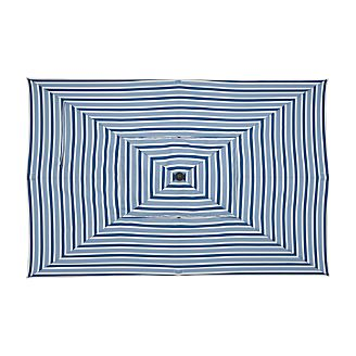 Rectangular Blue Striped Umbrella Cover