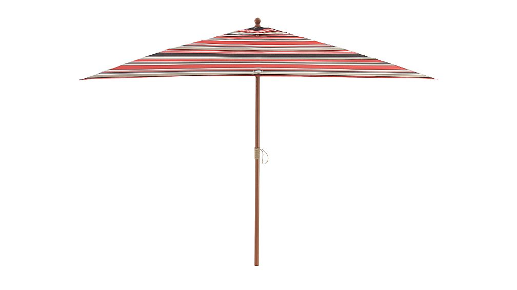 Rectangular Sunbrella R Rose Multi Striped Patio Umbrella