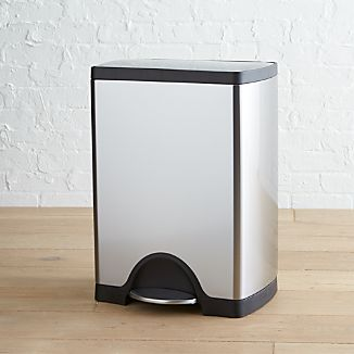 simplehuman® 8-Gallon Stainless-Steel Rectangular Step Can