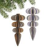 Recycled Paper Finial Ornaments Set of Two