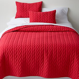Red Cable King Quilt