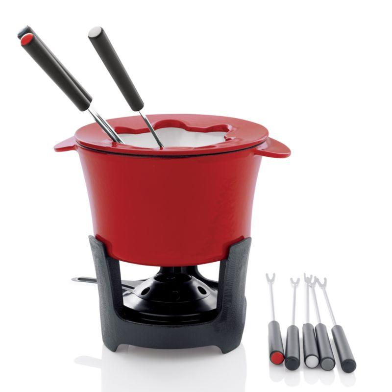 cast iron fondue set crate and barrel. Black Bedroom Furniture Sets. Home Design Ideas